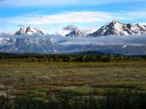 Mountain view Idaho Yellowstone and Grand Teton National Parks Bike Tour