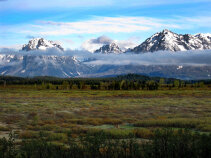 Mountain view Idaho Yellowstone and Grand Teton National Parks Bike Tour