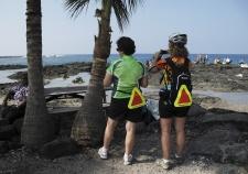 Two cyclist enjoying the view Hawaii Bike Tour