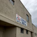 Community bikes sign R Community Bikes
