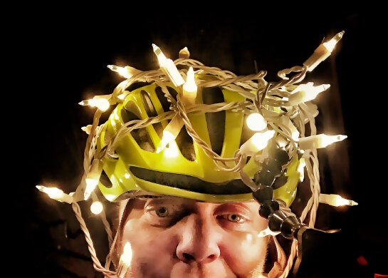 Keep your head looking safe and bright in a bicycle helmet.