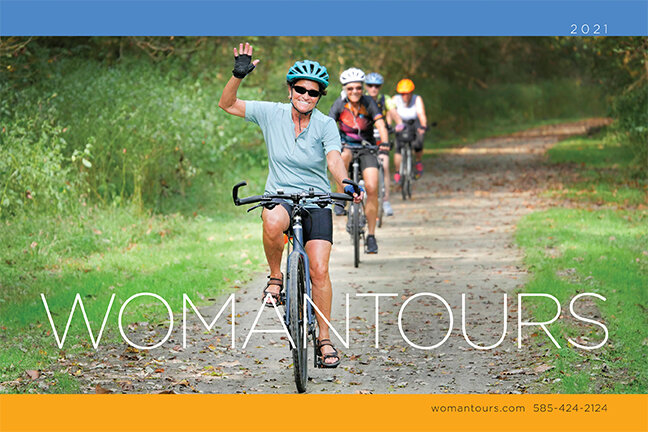 We portray the joy of bicycling on our 2021 bike tour catalog.