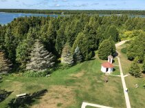 Lighthouse view Wisconsin Door County Bike Tour