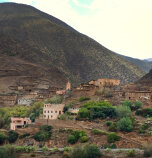 Scenic view of village and mountain Morocco Bike Tour