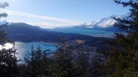 Scenery of Town and Water Alaska Bike Tour