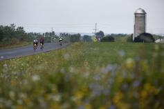 Cyclist on bike path Finger Lakes Bike Tour