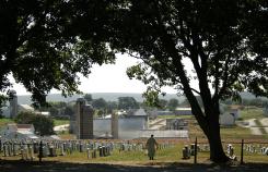 Cemetery view Pennsylvania Dutch Country Bike Tour
