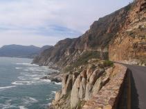 Bike path along coast South Africa Bike Tour