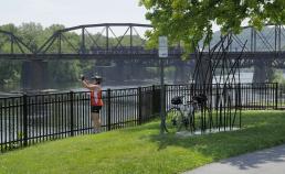 Bridge and river view during Epic Bike Tour