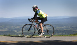 Rider and View Blue Ridge Bike Tour