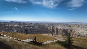 Mountain range view South Dakota Bike Tour