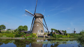 Windmill seen during Holland Bike and Barge Meandering the Meuse Bike Tour