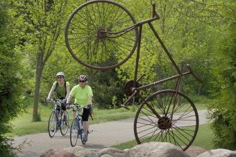 Bike statue Minnesota Lake Wobegon Trail Bike Tour