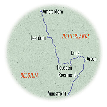 Holland: Bike & Barge - Maastricht to Amsterdam