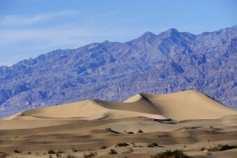 Mountain view Death Valley Bike Tour
