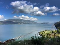 View of Lake during Albania Bike Tour