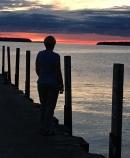 Sunset over green bay Wisconsin Door County Bike Tour