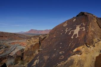 Rock tatoo near St. George, Utah