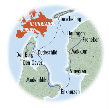 Sail & Cycle the Frisian Islands