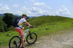 Cyclist during Costa Rica Bike Tour