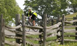 Rider During Blue Ridge Bike Tour