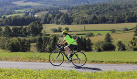Cyclist on Trail Cooperstown Bike Tour