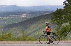 Rider Enjoying the View Blue Ridge Bike Tour