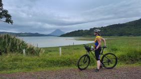 Cyclist enjoying the view Costa Rica Bike Tour