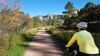 Bike path South Dakota Bike Tour
