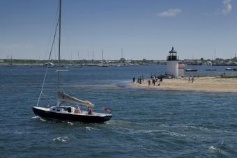 Sailboat and water view Massachusetts Island Hopper Bike Tour