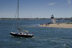 Sailboat and water view Massachusetts Island Hopper Bike Tour