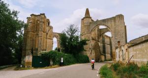 old ruined seen during Spain Camino de Santiago bike tour