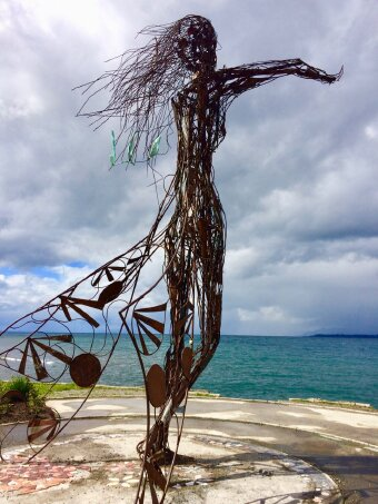 Sculpture of Woman by Lake Llanquihue in Puerto Varas, Chile
