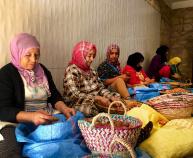 Basket weaving Morocco Bike Tour