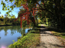 Canal path during Erie Canal Bike Tour