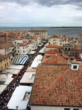 City life and view during Italy Bike and Barge Bike Tour