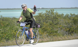 Cyclist during Florida Everglades and the Keys Bike Tour