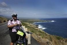 Ocean view during Hawaii Bike Tour