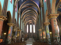 View inside a church France Bike Tour