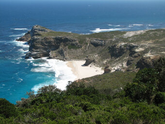 Scenic view coast South Africa Bike Tour