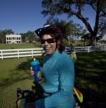Woman tour cyclist during Louisiana Bike Tour
