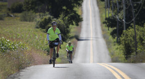 2 Cyclist on road Cooperstown Bike Tour