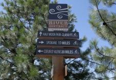 Direction sign Idaho Greenways Bike Tour