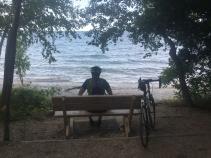 Overlooking of lake Wisconsin Door County Bike Tour