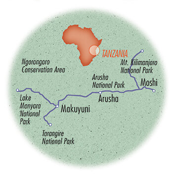 Tanzania: Service, Cycling & Safari