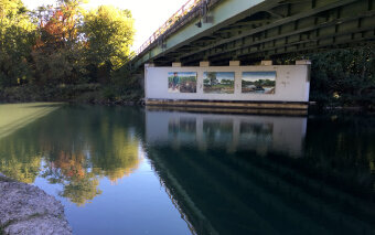 Three paintings seen during Erie Canal Bike Tour