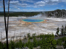 Hot spring Yellowstone and Grand Teton National Parks Bike Tour
