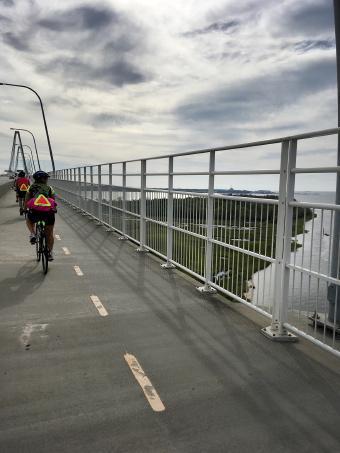 Cyclist on bike path South Carolina Low Country Bike Tour