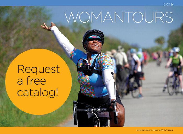 We portray the joy of bicycling on our 2019 bike tour catalog.