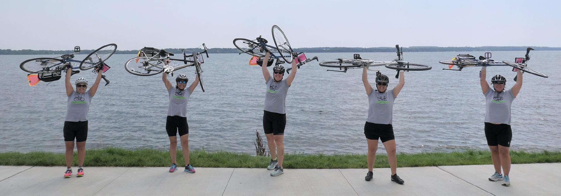 Five women on Finger Lakes bike tour